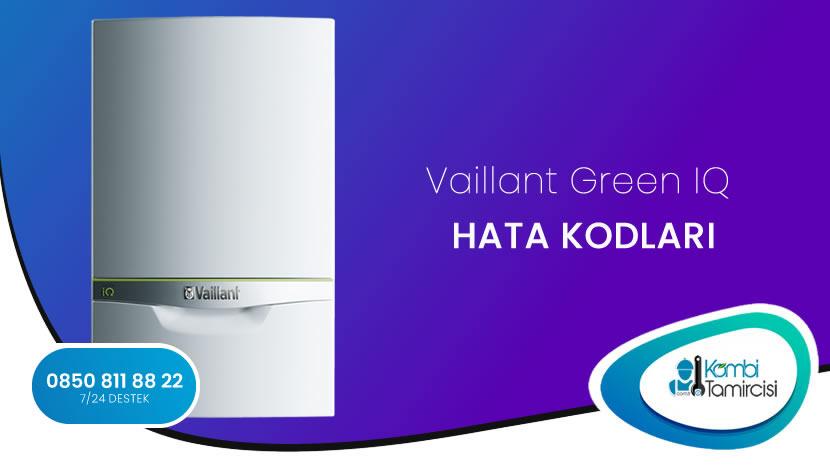 Vaillant ecoTEC exclusive Green IQ Multi Arıza Kodları